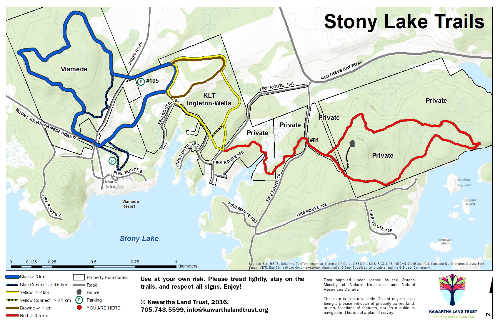 Map Of Stoney Lake Stoney Lake Trail Map   Viamede Resort