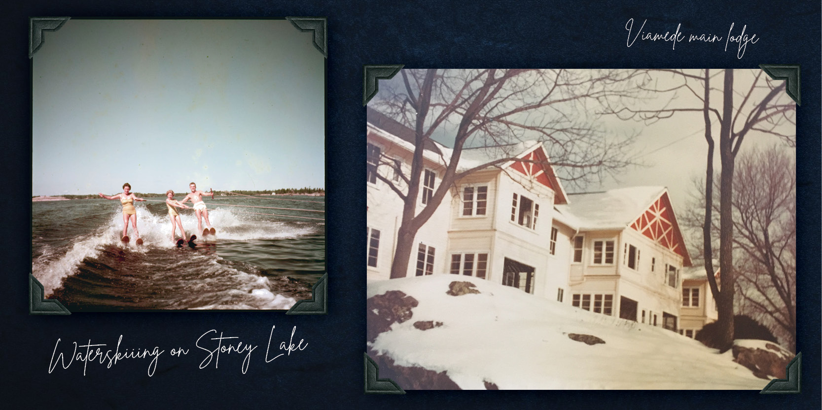 Old throwback photos of Stoney Lake and Viamede Resort; discussing the nostalgia and charm of the Stoney Lake area