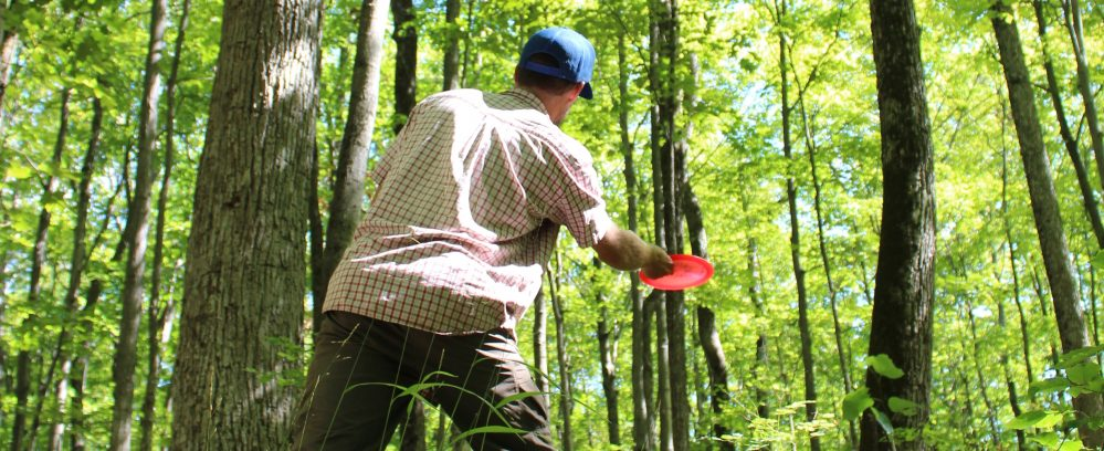 Disc Golf course at Viamede Resort