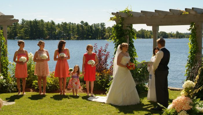 Resort wedding venue in the Kawarthas; waterfront outdoor wedding venue