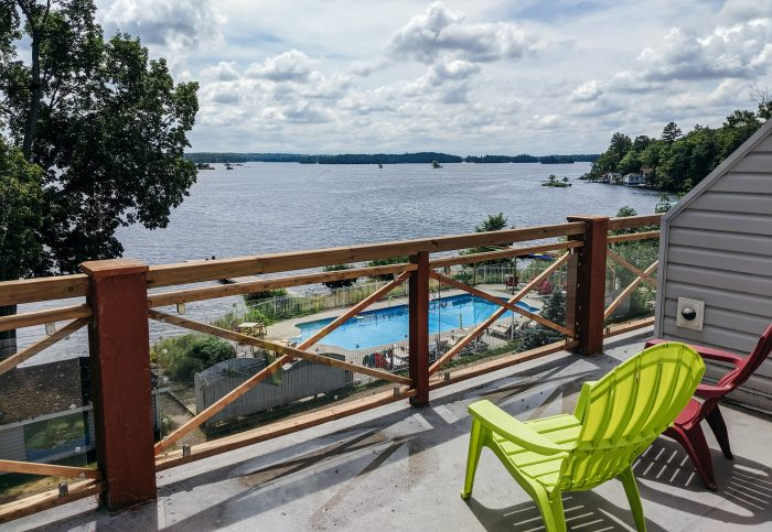 Viamede Resort on Stoney Lake; waterfront guest rooms with private balconies